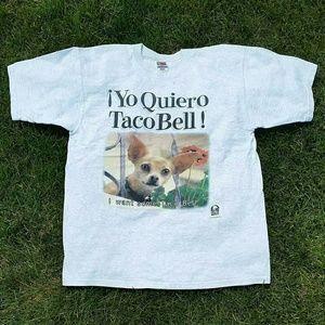 Vintage 1998 Yo Quiero Taco Bell T-Shirt - Sz: XL